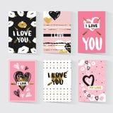 Cartões com uma cópia na moda do moderno Imagem de Stock