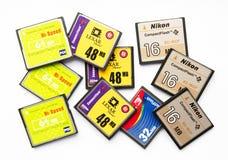 Cartões compactos da memória Flash Fotos de Stock Royalty Free