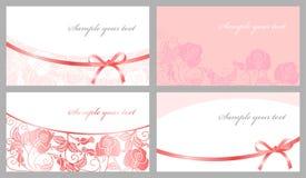 Cartões congratulatório Imagens de Stock