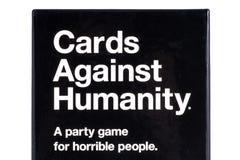 Cartões contra o jogo da humanidade Foto de Stock
