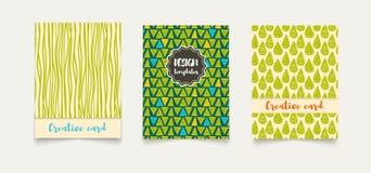 Cartões criativos étnicos do molde Imagem de Stock
