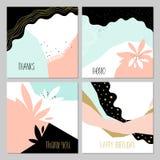 Cartões criativos abstratos Fotografia de Stock Royalty Free