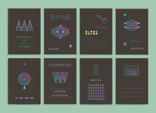 Cartões criativos modernos Imagens de Stock