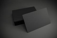 cartões 3d pretos vazios ilustração royalty free
