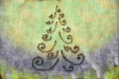 Cartões da árvore de Natal Imagens de Stock Royalty Free