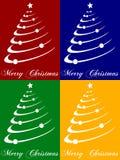 Cartões da árvore de Natal Foto de Stock