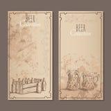 Cartões da coleção da cerveja Imagens de Stock
