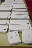Cartões da eleição Fotos de Stock Royalty Free
