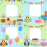 Cartões da festa de anos Fotografia de Stock Royalty Free