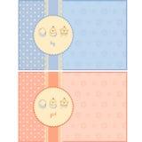 Cartões da festa do bebê Fotografia de Stock Royalty Free