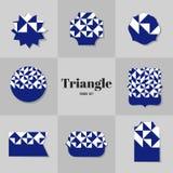 Cartões da forma do rombo e do quadrado da coleção Foto de Stock