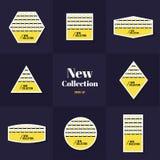 Cartões da forma do rombo e do quadrado da coleção Foto de Stock Royalty Free