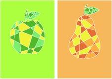 Cartões da fruta Imagens de Stock Royalty Free
