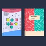 Cartões da geometria para a tampa Imagens de Stock Royalty Free