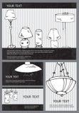 Cartões da lâmpada Imagens de Stock