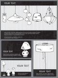 Cartões da lâmpada Imagem de Stock