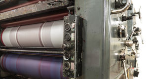 Cartões da máquina e da cópia da perfuração Foto de Stock