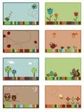Cartões da natureza Imagem de Stock Royalty Free