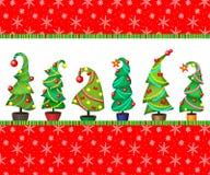 Cartões da opção, tampas, etiquetas Ilustração do vetor de uma árvore de Natal? Fotos de Stock Royalty Free