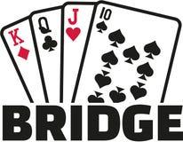 Cartões da ponte ilustração stock