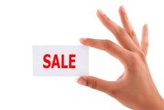 Cartões da venda disponivéis fotografia de stock royalty free