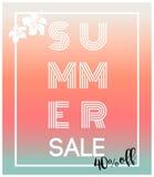 Cartões da venda do verão/bandeiras dos fundos Imagens de Stock