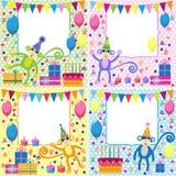 Cartões de aniversário Fotografia de Stock Royalty Free