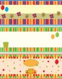 Cartões de aniversário Imagens de Stock