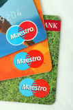 Cartões de banco dos maestros Imagem de Stock Royalty Free