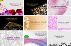 Cartões de Busines da forma do encanto Fotografia de Stock Royalty Free