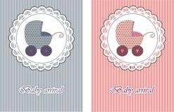 Cartões de chegada do bebê Imagem de Stock