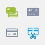Cartões de crédito - ícones do granito ilustração stock