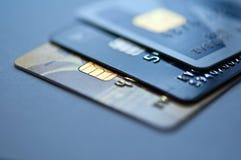 Cartões de crédito fotografia de stock royalty free