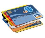 Cartões de crédito ilustração royalty free