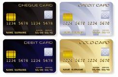 Cartões de crédito ilustração stock