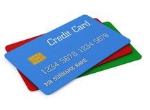 cartões de crédito da cor 3d Foto de Stock Royalty Free
