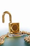 Cartões de crédito desprotegidos Imagens de Stock