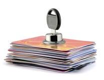 Cartões de crédito fechados foto de stock royalty free