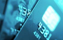 Cartões de crédito macro Foto de Stock Royalty Free
