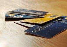 Cartões de crédito velhos Fotografia de Stock Royalty Free