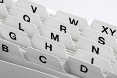 Cartões de deslocamento predeterminado como o armazenamento para clientes Fotografia de Stock