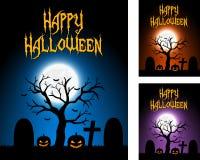 Cartões de Dia das Bruxas Imagens de Stock