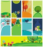 Cartões de Easter da mola Imagens de Stock Royalty Free
