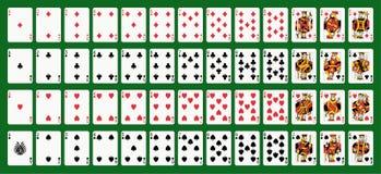 Cartões de jogo ilustração royalty free