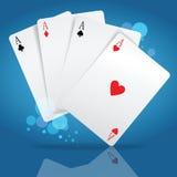 Cartões de jogo Fotografia de Stock Royalty Free