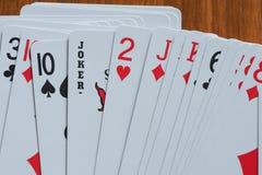 Cartões de jogo 5 Foto de Stock Royalty Free