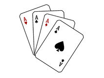 Cartões de jogo. Fotografia de Stock