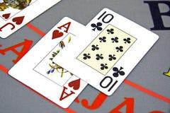 Cartões de jogo fotografia de stock