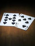 cartões de jogo, cartões das pás Fotografia de Stock