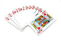 Cartões de jogo clássicos - corações Foto de Stock Royalty Free